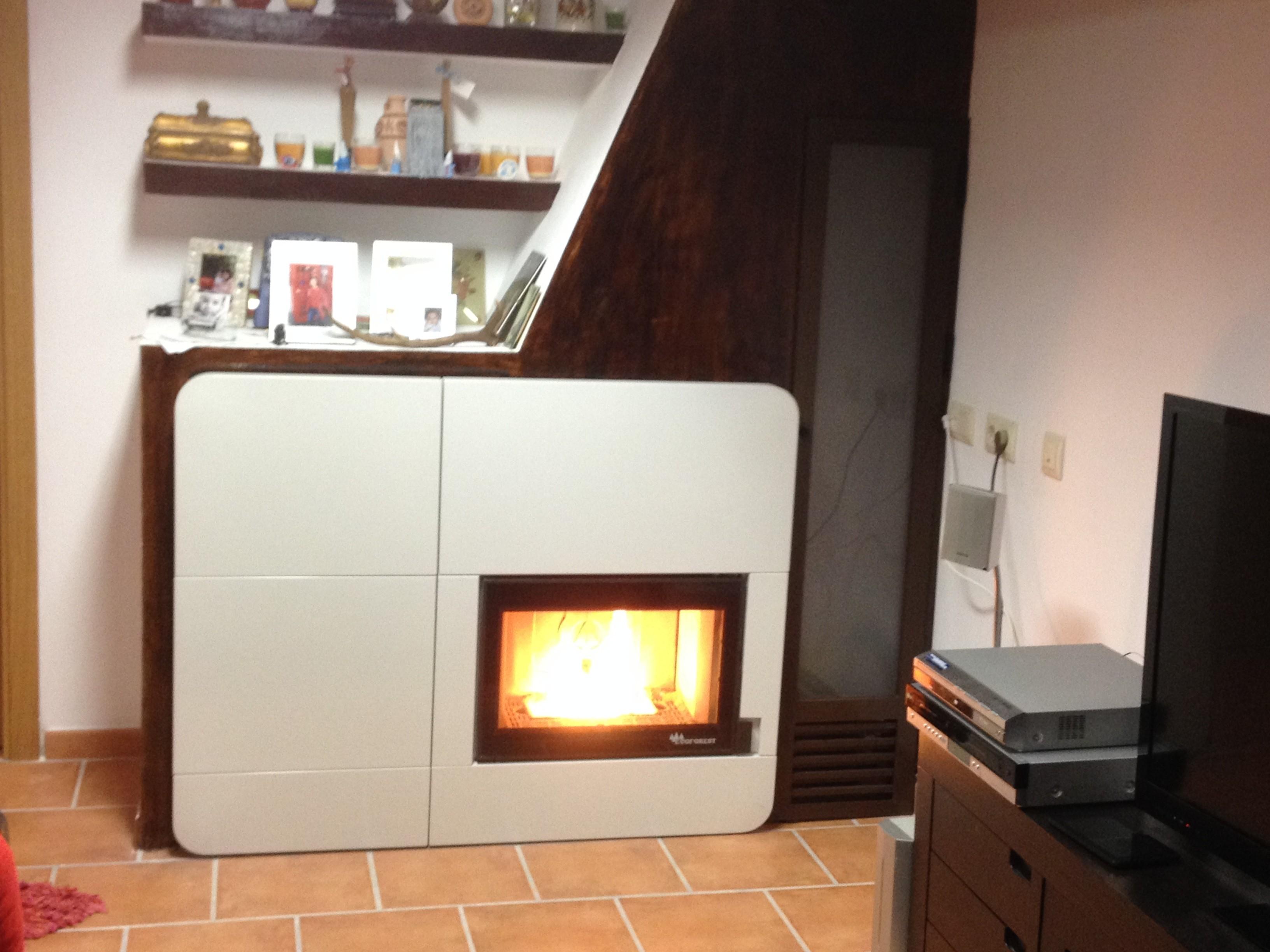 Estufa de pellets instalacion latest with estufa de - Instalar estufa pellets piso ...